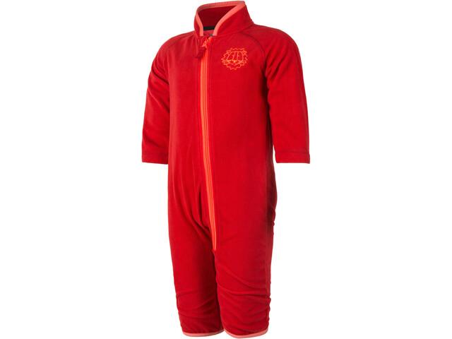 Color Kids Timpi Mini Fleece Combinaison de protection Enfant, racing red